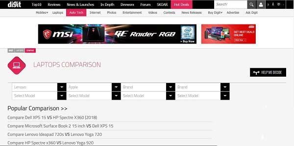 digit-website-lap-top-comparing معرفی سایت های مقایسه آنلاین لپ تاپ